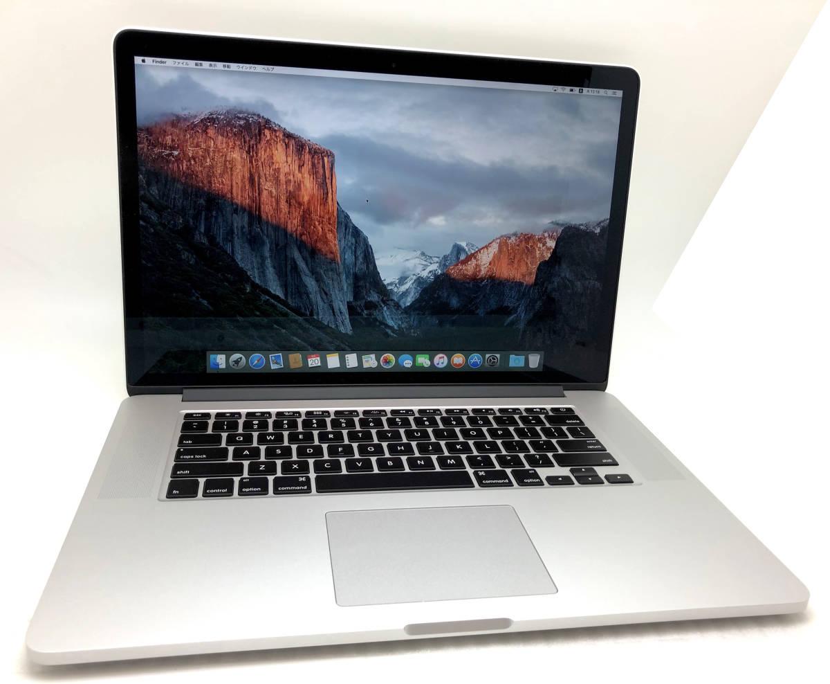 新品同様極上品 Apple Macbook Pro Retina 15 Mid2015 CTO i7 2.8GHz/16GB RAM/1TB AppleSSD/R9 M370X/ US