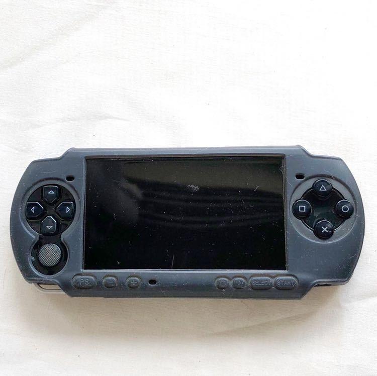 PSP プレイステーションポータブル本体 PSP-3000 ブラック 起動確認済 ジャンク品