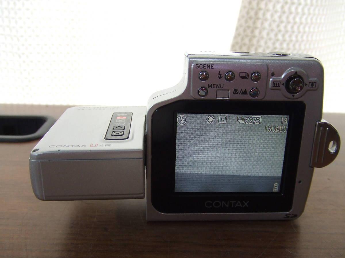 i571 CONTAX コンタックス U4R コンパクトデジタルカメラ Carl Zeiss Tessar 中古_画像3