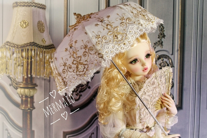 BJD用 球体関節人形 傘 SD/MSDサイズ 全3色 復古 高品質 レース doll ドール用 人形 撮影道具 同梱可能 XYM-001_画像2