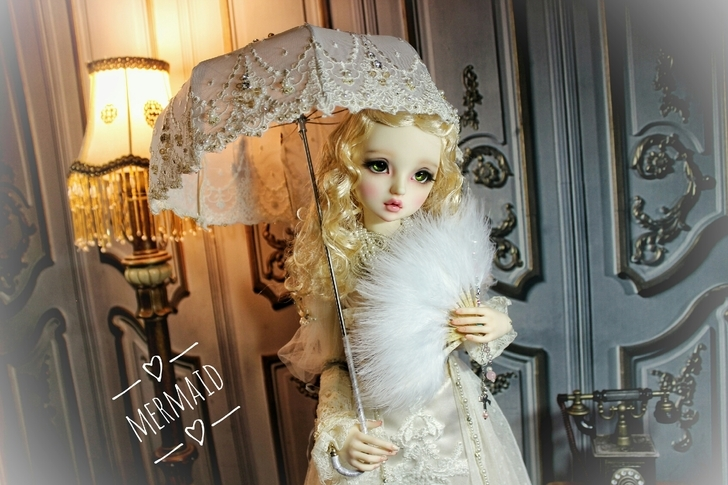 BJD用 球体関節人形 傘 SD/MSDサイズ 全3色 復古 高品質 レース doll ドール用 人形 撮影道具 同梱可能 XYM-001_画像3