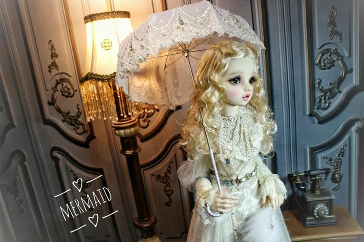 BJD用 球体関節人形 傘 SD/MSDサイズ 全3色 復古 高品質 レース doll ドール用 人形 撮影道具 同梱可能 XYM-001_タイプ2
