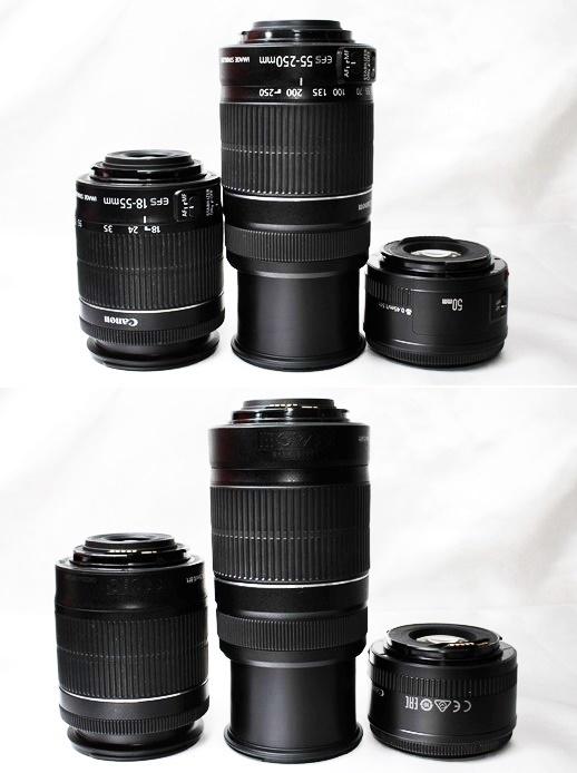 ★【新品級 トリプルレンズセット】Canon EOS Kiss X9i ★手ブレ防止×神レンズ×望遠 EF-S18-55mm STM EF-S55-250mm II EF50mm II _画像6