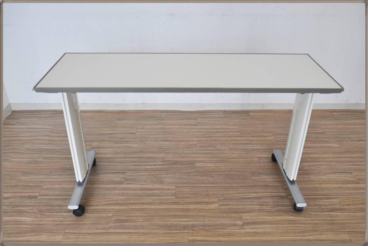 PARAMOUNT BEDオーバーベッドテーブルKF-832SA昇降機能 医療・介護用軟質ウレタンエッジ一体成形パラマウントベッド 洗浄・動作確認済み_画像3