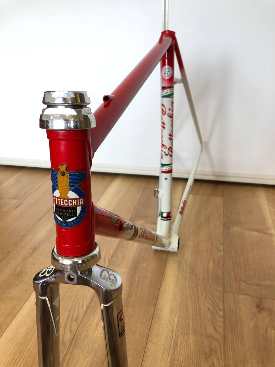 BOTTECCHIA ボッテキア カンパ Cレコ期 ヘッドパーツ COLUMBUS クロモリフレーム イタリアンバイク _画像3