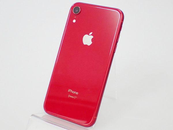 【極美品】simロック解除済み Apple au iPhone XR 64GB PRODUCT RED MT062J/A バッテリー最大容量100% 制限○(JFA578-1)_画像2