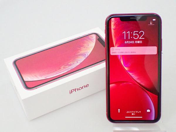 【極美品】simロック解除済み Apple au iPhone XR 64GB PRODUCT RED MT062J/A バッテリー最大容量100% 制限○(JFA578-1)
