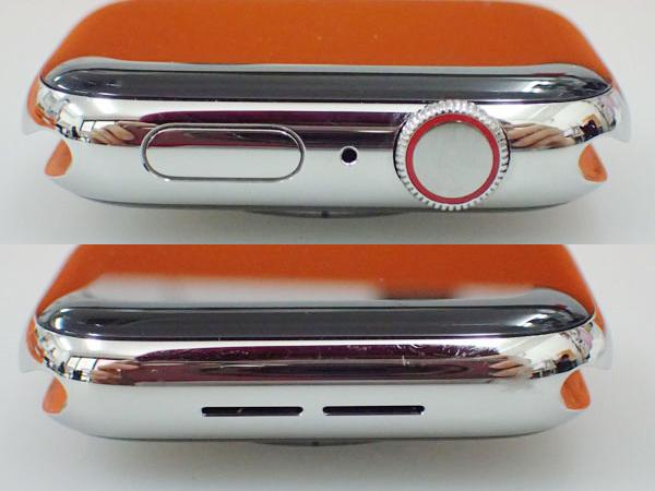 【中古】Apple Watch Hermes Series 4 GPS+Cellular 44mm シンプルトゥール MU762J/A ヴォーバレニア フォーヴ レザーストラップ(JFA598-2)_画像3