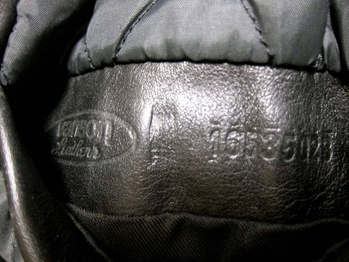 ☆バックドロップ別注☆オールドタイプのバンソン襟付きシングルライダース VANSON TYPE.9D Size.34_画像10