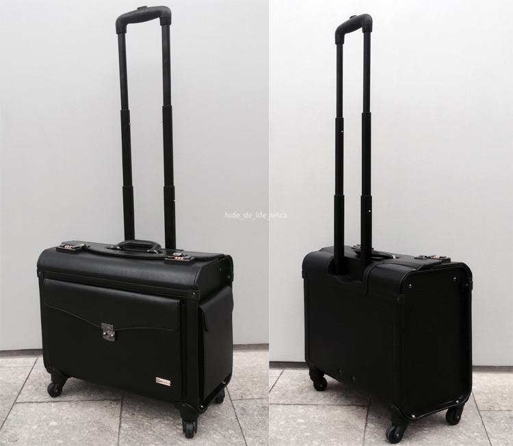 高品質 スーツケース ユニバーサルホイール 19インチトロリーケース レザー ビジネス 乗務員用 パスワードロック 機内持ち込み可 R138-1