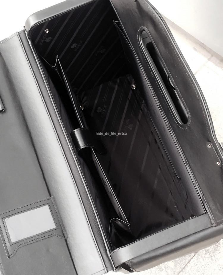 高品質 スーツケース ユニバーサルホイール 19インチトロリーケース レザー ビジネス 乗務員用 パスワードロック 機内持ち込み可 R138-1_画像2