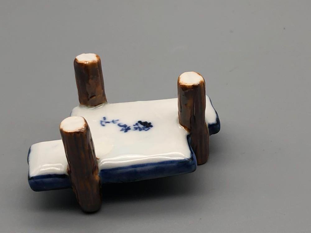 【悠】1000円~ お茶道具 八ツ橋 蓋置 共箱有 煎茶道具 茶道具_画像4