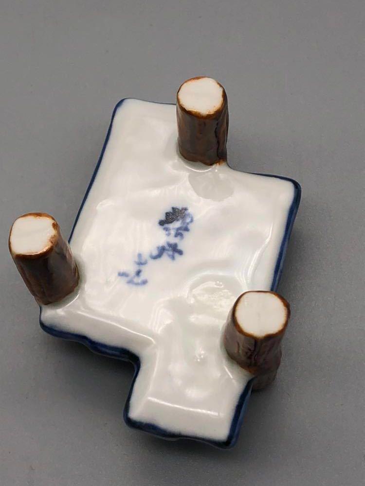 【悠】1000円~ お茶道具 八ツ橋 蓋置 共箱有 煎茶道具 茶道具_画像3