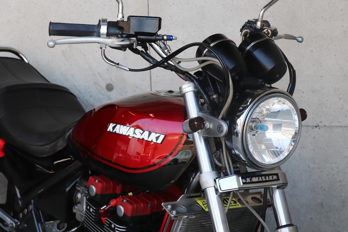 横浜~ Kawasaki ゼファー400 C3 旧車 Z2 ブラック火の玉カラーニューペイント 好調 _画像4