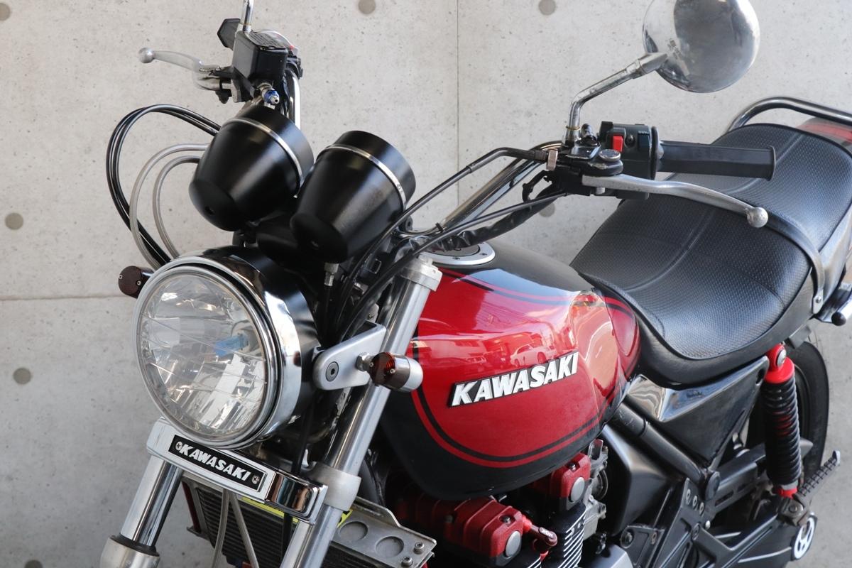 横浜~ Kawasaki ゼファー400 C3 旧車 Z2 ブラック火の玉カラーニューペイント 好調 _画像9