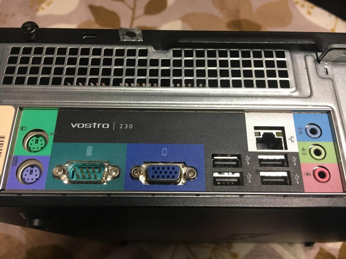 ■DELL デル Vostro ボストロ 230 CPU/Core2Duo E7500 2.93GHz Memory/4GB HDD/250GB+250GB Windows10 Pro クリーンインストール 中古品_画像9