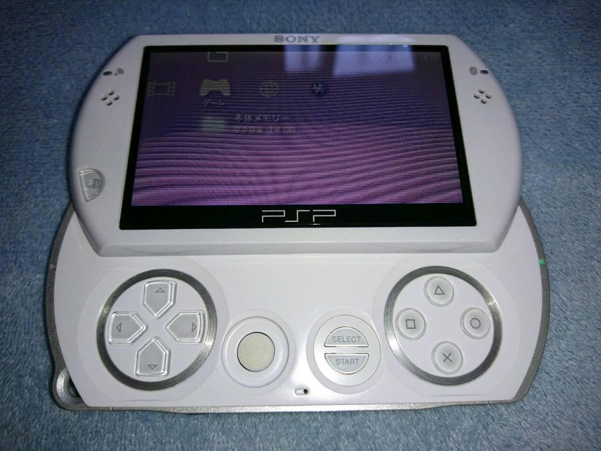 PSP go パールホワイト ポーチ付き_画像7