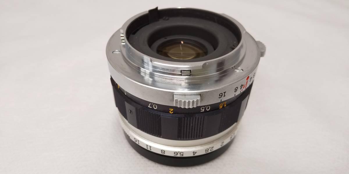 OLYMPUS PEN-F+Zuiko Auto-S 38mmF1.8 ハーフサイズ一眼レフカメラ【ジャンク】_画像7