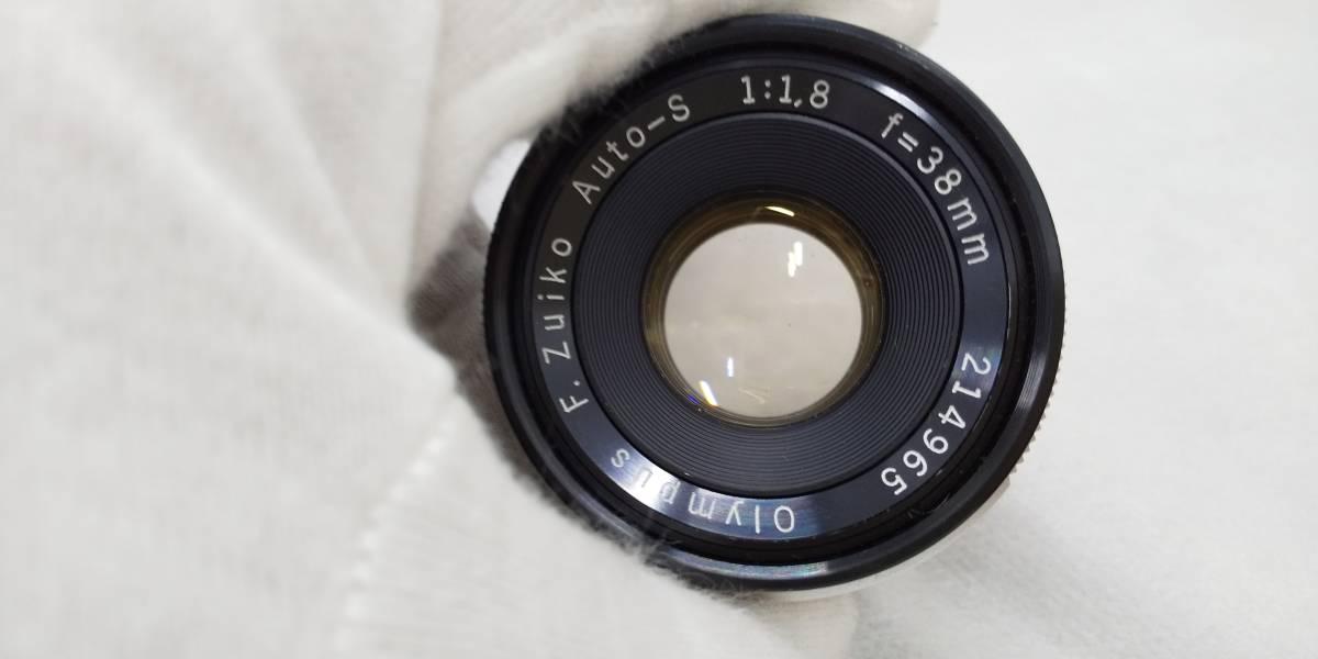 OLYMPUS PEN-F+Zuiko Auto-S 38mmF1.8 ハーフサイズ一眼レフカメラ【ジャンク】_画像8