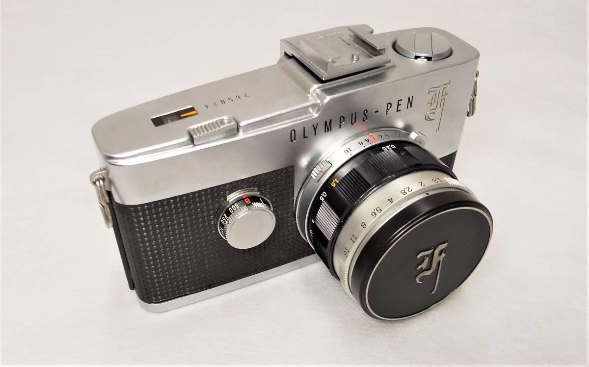 OLYMPUS PEN-F+Zuiko Auto-S 38mmF1.8 ハーフサイズ一眼レフカメラ【ジャンク】