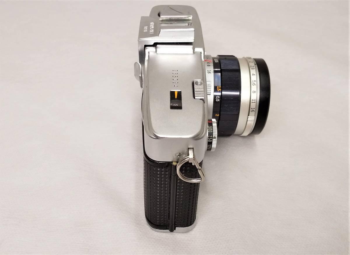OLYMPUS PEN-F+Zuiko Auto-S 38mmF1.8 ハーフサイズ一眼レフカメラ【ジャンク】_画像2