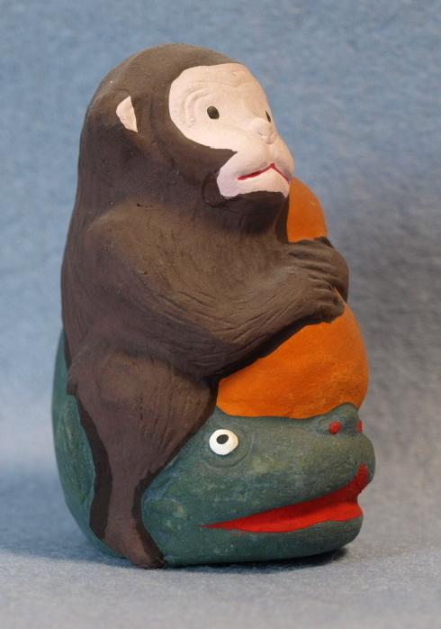 ◆郷土玩具◆ 瓢箪なまず猿 愛知 名古屋土人形 野田末吉作_画像3