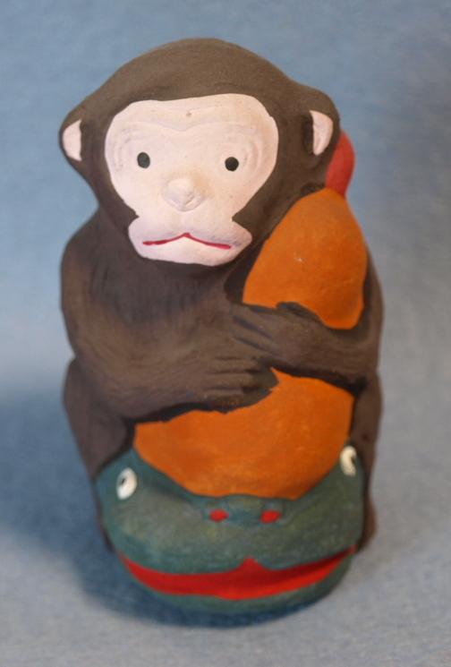 ◆郷土玩具◆ 瓢箪なまず猿 愛知 名古屋土人形 野田末吉作