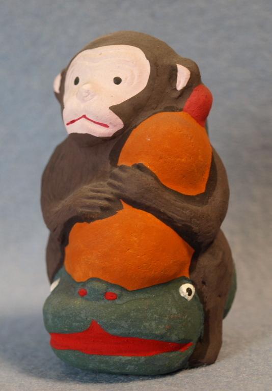 ◆郷土玩具◆ 瓢箪なまず猿 愛知 名古屋土人形 野田末吉作_画像2
