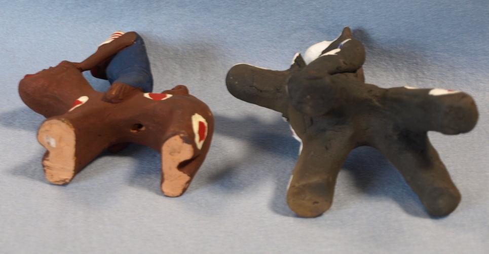 ◆郷土玩具◆ 犬のり猿 長崎・中原仁斉  木の葉猿 熊本・永田武二_画像7
