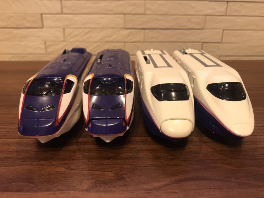 プラレール E3系新幹線つばさ&E2系新幹線 連結セット_画像9