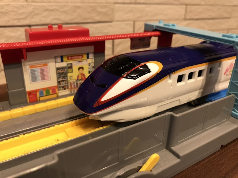 プラレール E3系新幹線つばさ&E2系新幹線 連結セット_画像5