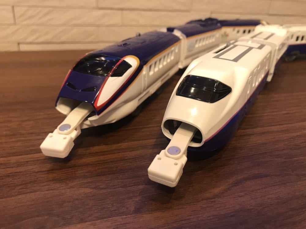 プラレール E3系新幹線つばさ&E2系新幹線 連結セット_画像10
