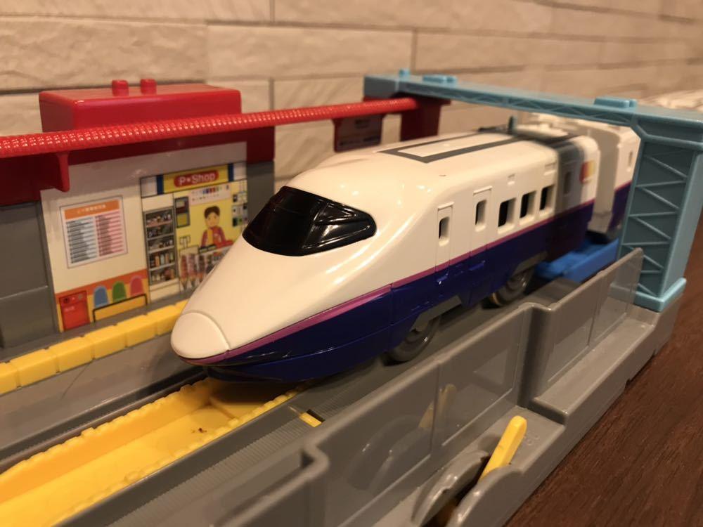 プラレール E3系新幹線つばさ&E2系新幹線 連結セット_画像7
