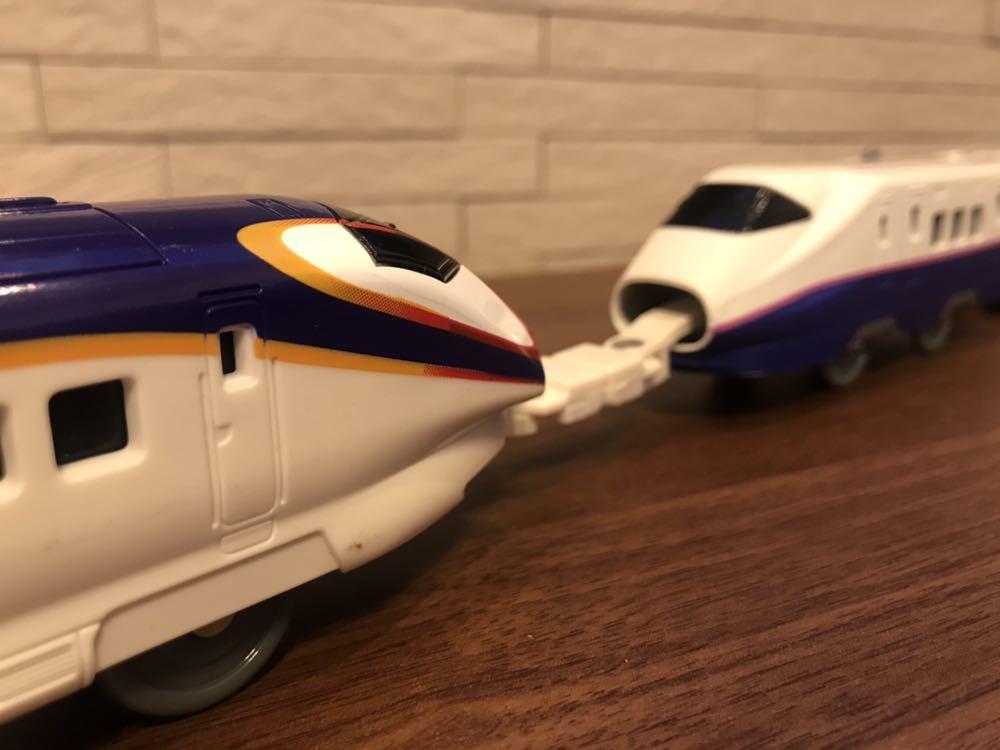 プラレール E3系新幹線つばさ&E2系新幹線 連結セット_画像3