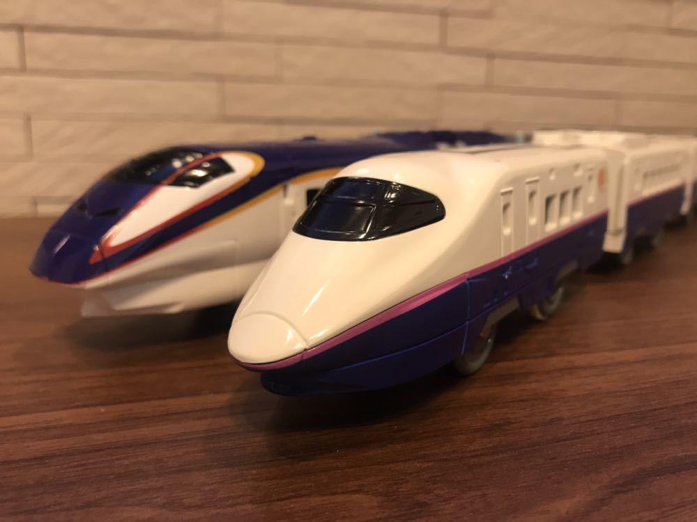 プラレール E3系新幹線つばさ&E2系新幹線 連結セット_画像4