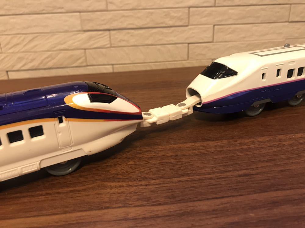 プラレール E3系新幹線つばさ&E2系新幹線 連結セット_画像2
