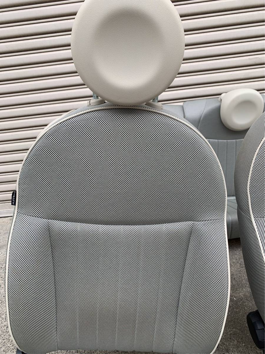 FIAT500ツインエアー 純正シートセット中古 フィアット500_画像3