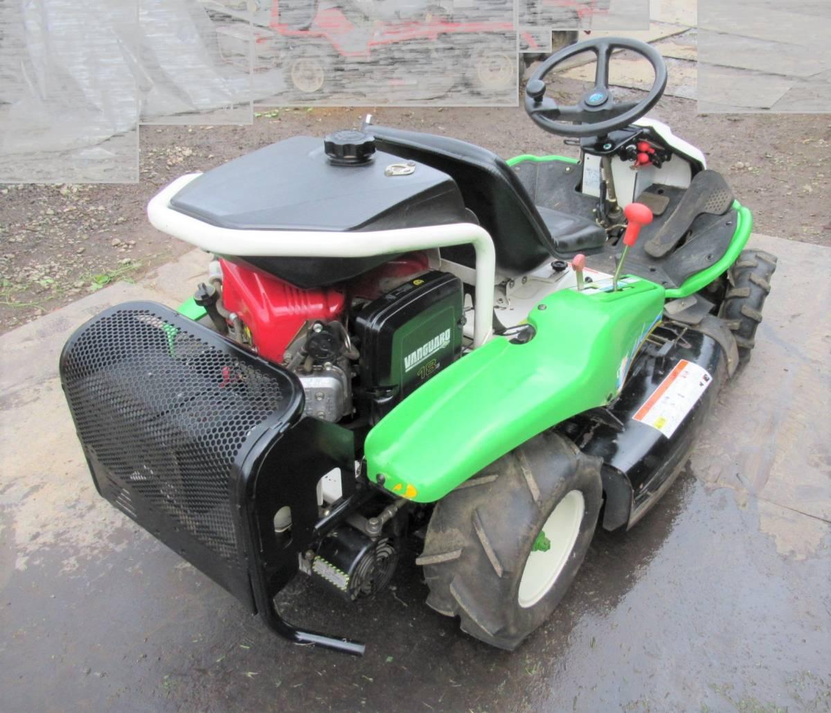 乗用草刈機 オーレック ロータリーモア RM950 18馬力 実動品 長野市_画像4