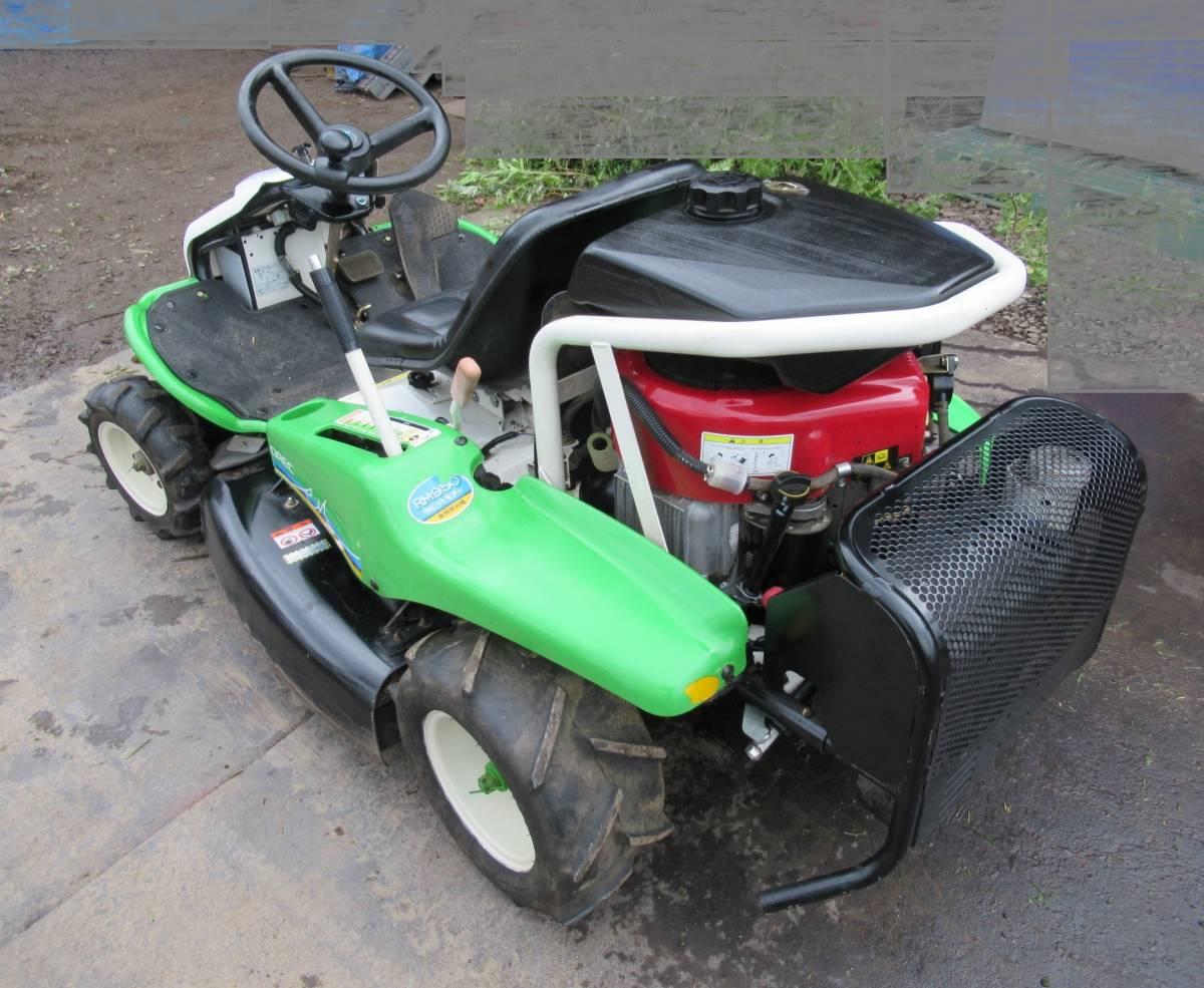 乗用草刈機 オーレック ロータリーモア RM950 18馬力 実動品 長野市_画像3