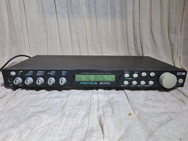 E-MU midi音源モジュール PROTEUS 2000 動作品 PCM音源の名機 プロテウス サウンドモジュール