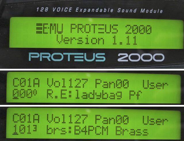 E-MU midi音源モジュール PROTEUS 2000 動作品 PCM音源の名機 プロテウス サウンドモジュール_画像7