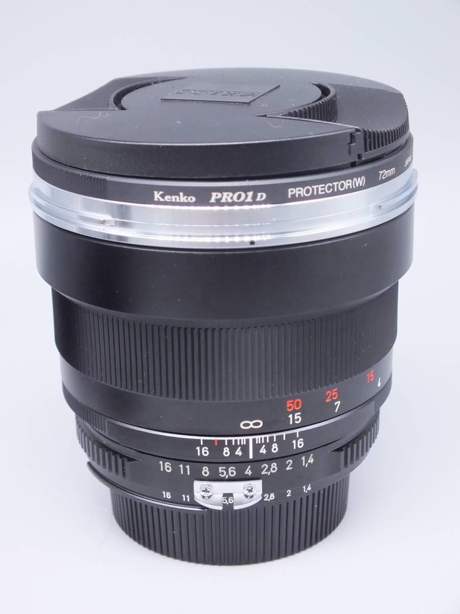 美品/Carl Zeiss Planar 85mm 1:1.4 ZF T*/カールツァイス 一眼カメラレンズ/ニコン用/単焦点 MF Ai-s/NIKON/メタルフード 他付属/管C0620_画像8