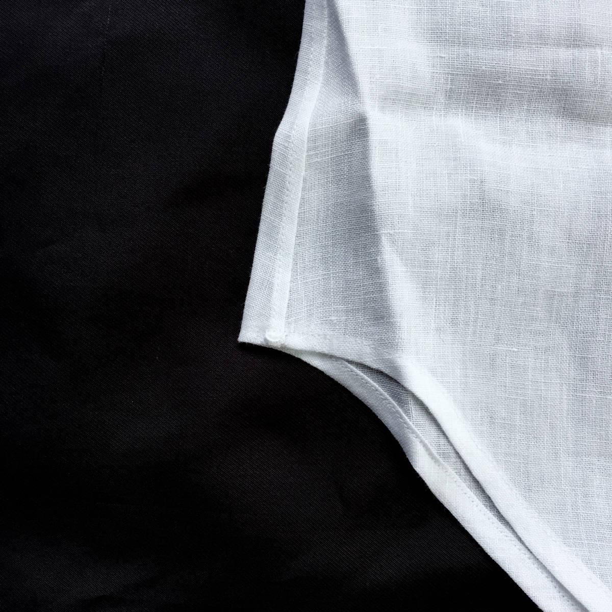定価¥5.2万【イギリス王室御用達★最高級ハンドメイドシャツ★G.イングレーゼ】新品 白無地リネン イタリア銘品ジャンニアニエリモデル 39_画像6