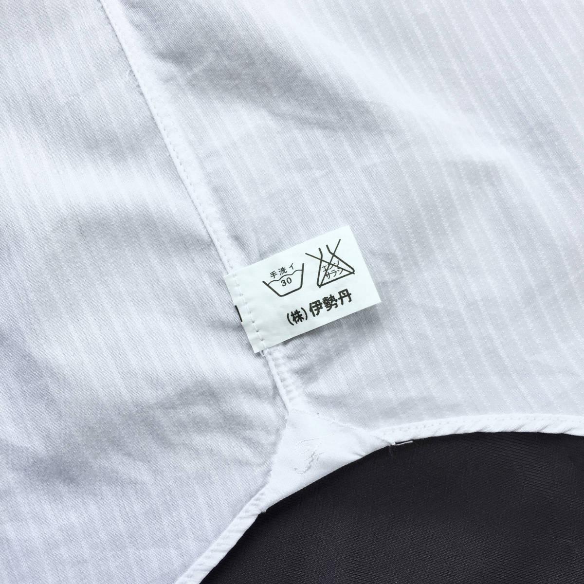 定価¥3.4万【伊勢丹メンズ取り扱い ナポリの高級ハンドメイドシャツ★フィナモレ】新品 白織りスト希少ブラックラベル スリムフィット 40_画像6