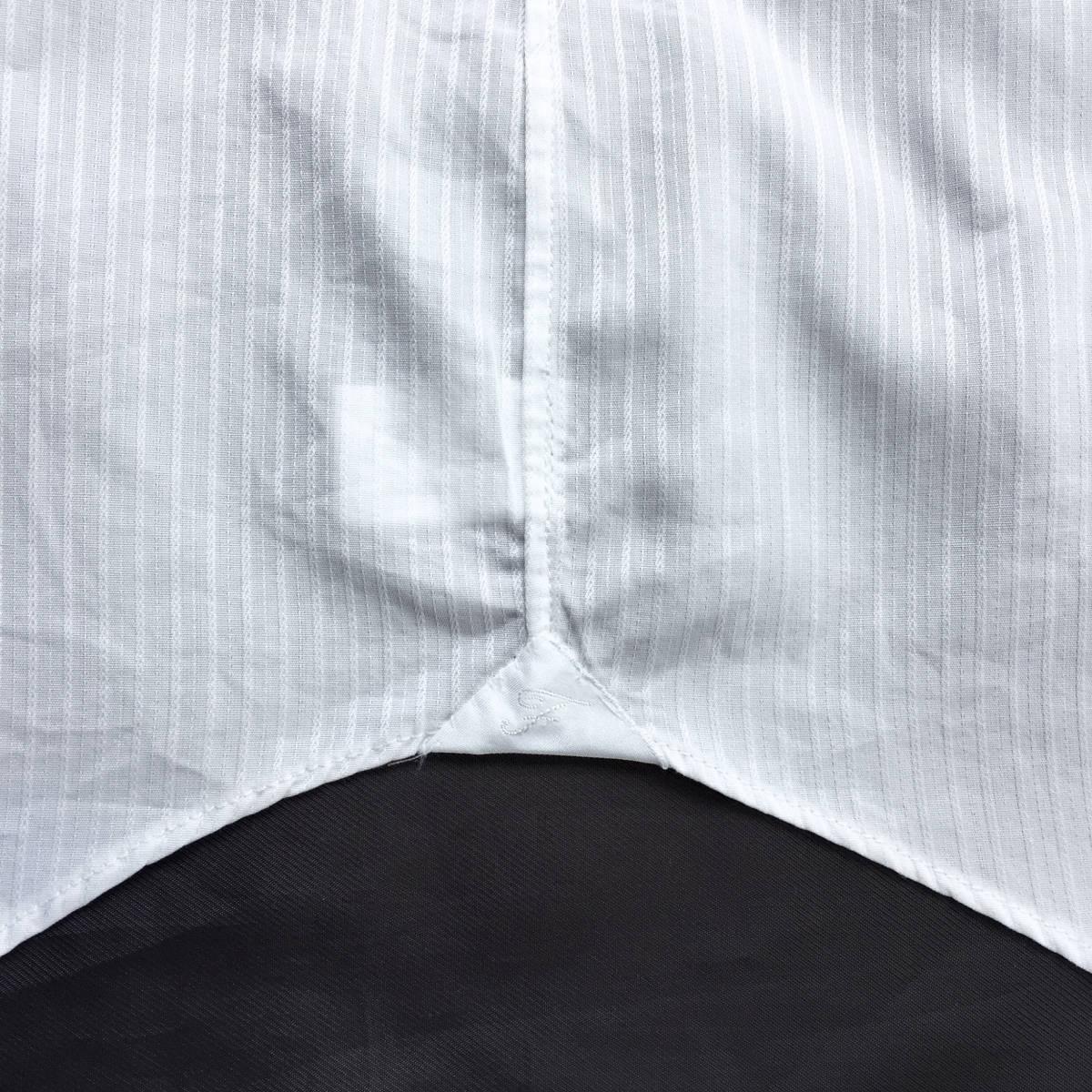 定価¥3.4万【伊勢丹メンズ取り扱い ナポリの高級ハンドメイドシャツ★フィナモレ】新品 白織りスト希少ブラックラベル スリムフィット 40_画像5