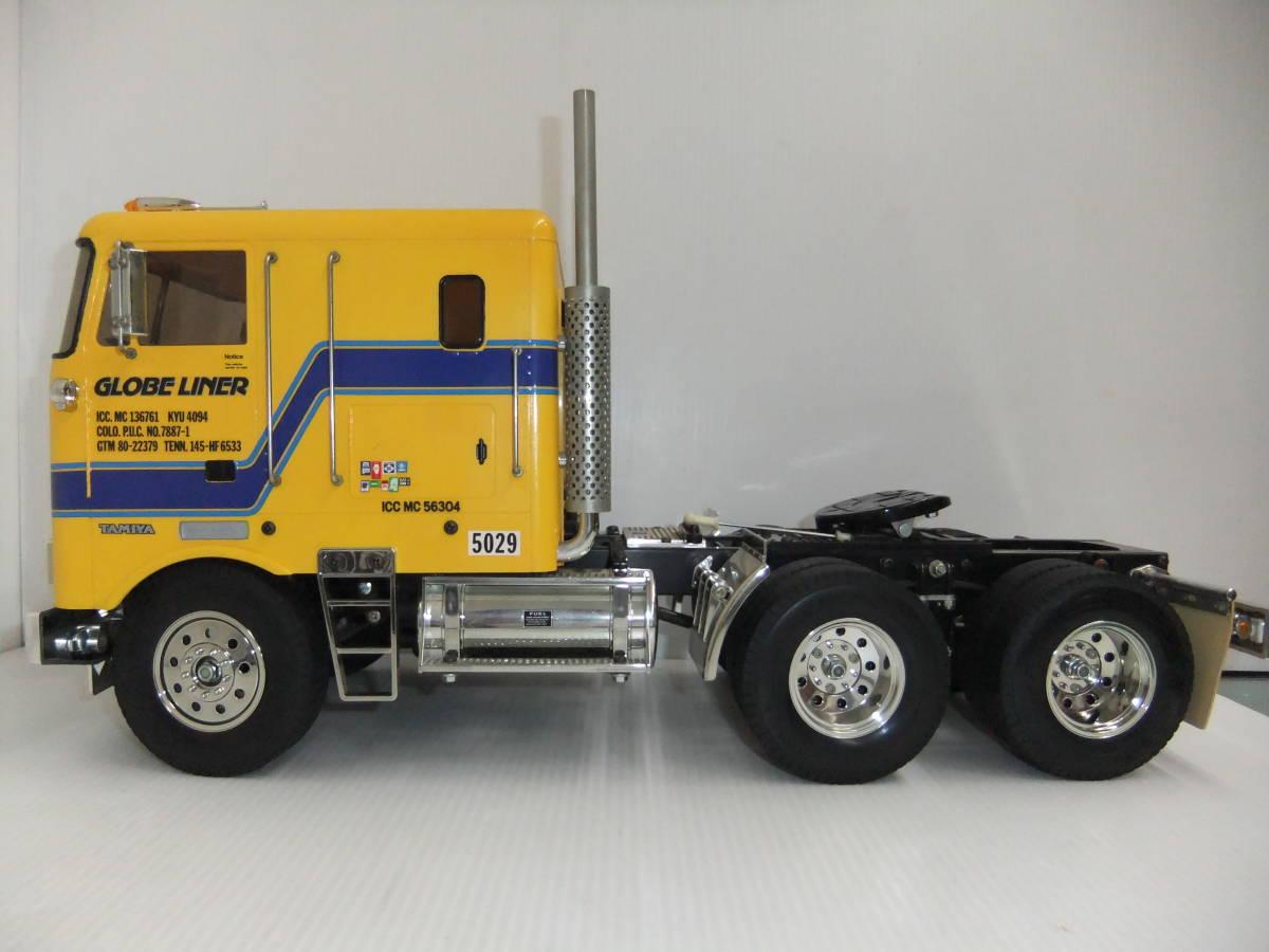 E9D肆◆【ジャンク品】タミヤ ラジコン ビッグトラックシリーズ No.04 トレーラーヘッド グローブライナー_画像3