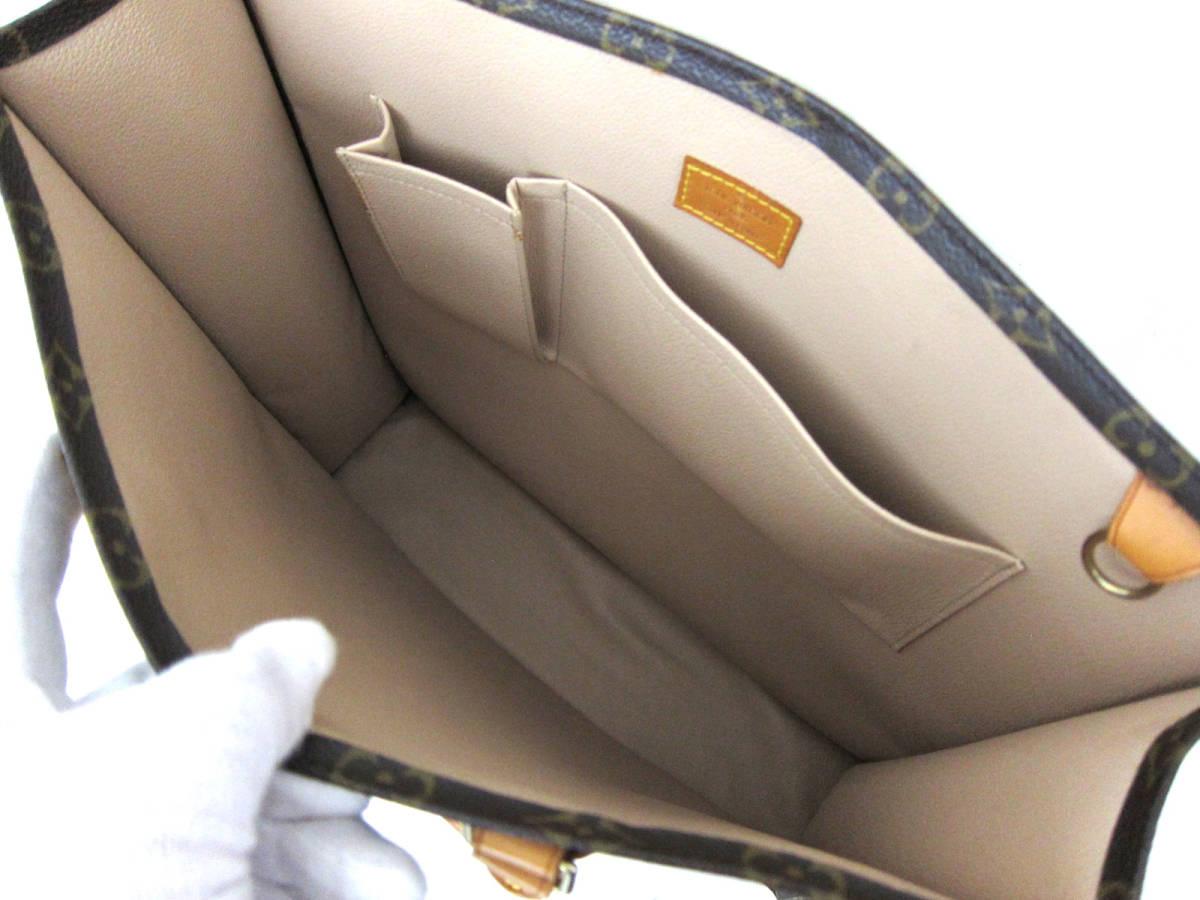 新品同様 極美品 LOUIS VUITTON ルイ ヴィトン モノグラム サックプラ トートバッグ ハンドバッグ フランス製 MI1001 メンズ レディース _画像7