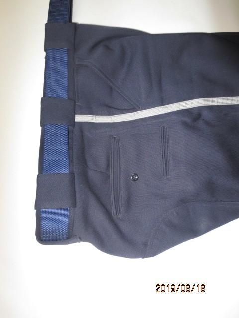 U.S.白バイ警官 LAPD ロス市警 ブリーチ(ズボン)紺色、中古_画像3