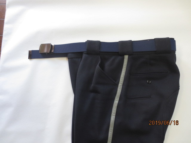 U.S.白バイ警官 LAPD ロス市警 ブリーチ(ズボン)紺色、中古