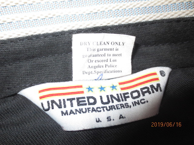 U.S.白バイ警官 LAPD ロス市警 ブリーチ(ズボン)紺色、中古_画像10